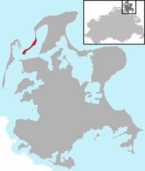 Bug (Rügen) - Location of Bug on Rügen