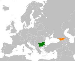 Map indicating locations of Bulgaria and Georgia