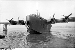 Daimler-Benz DB 603 - BV 238 V1 flying boat with Kraftei DB 603s, similar to Do 217s
