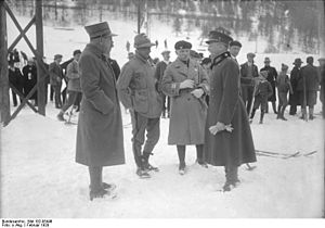 Military patrol at the 1928 Winter Olympics - Referees from France, Italy, Switzerland and Poland