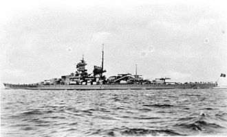 German battleship Gneisenau - Gneisenau at sea