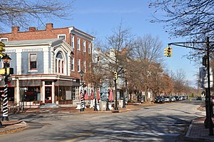 Burlington, New Jersey - The High Street Historic District in Burlington