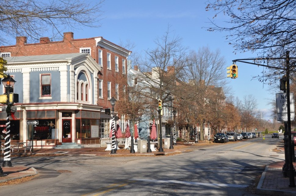 The High Street Historic District in Burlington