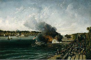 Burning of the Sidewheeler Henry Clay