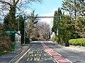 Bus stop and bat crossing, Oakdale Terrace, Penmaen - geograph.org.uk - 764937.jpg
