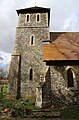 Bush End, Essex, England ~ St John Evangelist exterior ~ tower from south.jpg