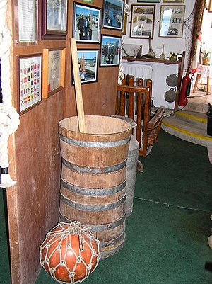 English: Butter churn, Dunserverick Museum One...
