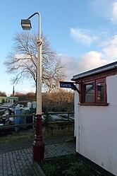 Butterley railway station, Derbyshire, England -light-19Jan2014.jpg