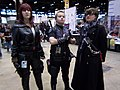 C2E2 (Day 2) 2014, Black Widow, Hawkeye, and another cosplayer 2.jpg