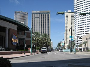 New Orleans Central Business District. View lo...
