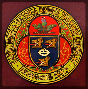 Castlederg and Victoria Bridge Tramway - The company's crest