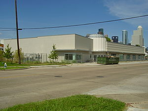 Carnegie Vanguard High School - The theater is a former Orange Crush bottling plant