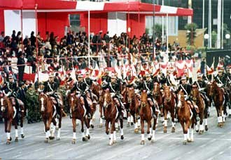 Peruvian Army - Cavalry Regiment of the Chorrillos Military School.