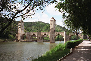 Lot (river) - The Lot in Cahors