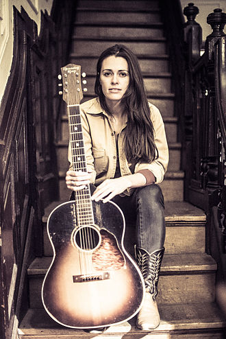 Recording King - Singer songwriter Caitlin Canty writes and plays her songs with a 1930s Recording King guitar.