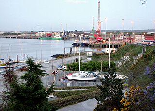 Foynes Town in Munster, Ireland