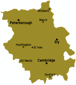 Map Of Cambridgeshire Cambridgeshire – Travel guide at Wikivoyage
