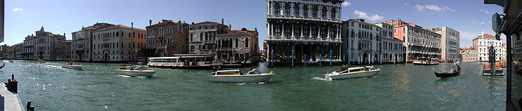 Panorama of Canal Grande.