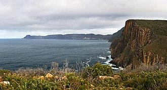 Cape Pillar - Cape Pillar seen from Cape Hauy track