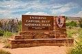 Capitol Reef National Park - Entrance Sign (43187941875).jpg