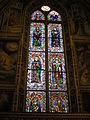 Cappella baroncelli, vetrata di taddeo gaddi.JPG