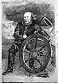 Cartoon of Sir H. W. Acland at wheel of ship Wellcome L0002297.jpg