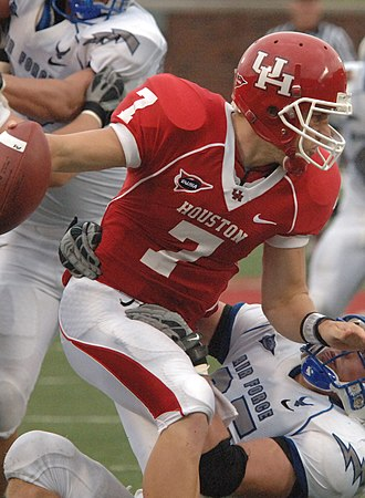 Spread offense - In the Houston Cougars' spread offense, Case Keenum became the NCAA's all-time leading passer.