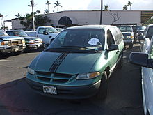 Dodge Caravan Turned In For Cash Clunkers Note Paper Placard On Dash