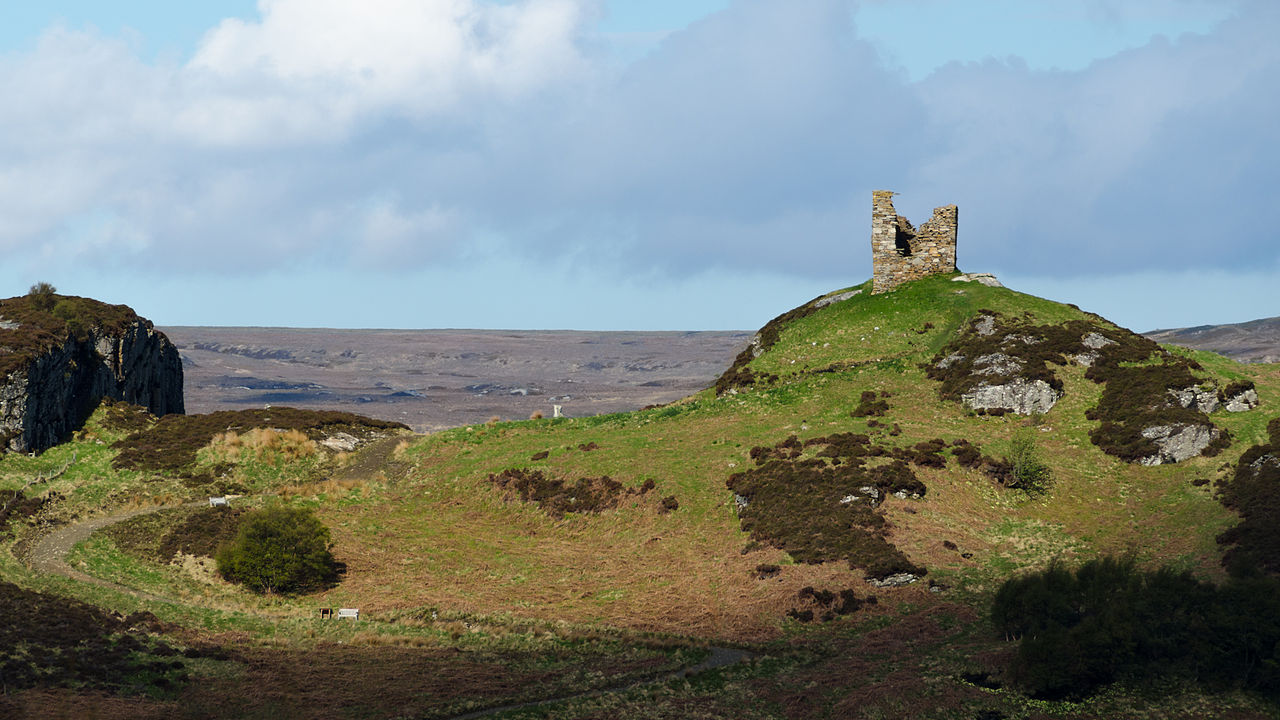 Ruined varrich castle panoramic