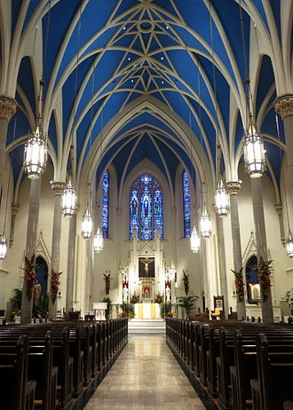 Fulton J. Sheen - Interior of Cathedral of St. Mary of the Immaculate Conception (Peoria, Peoria County, Illinois)