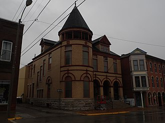 Fort Madison Downtown Commercial Historic District - Image: Cattermole Memorial Library