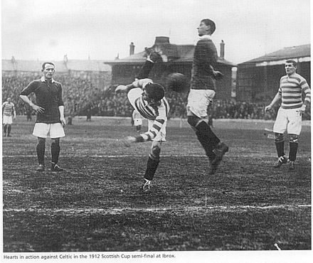 Action de match face à Hearts en 1912.