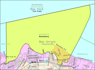 Keansburg, New Jersey - Image: Census Bureau map of Keansburg, New Jersey