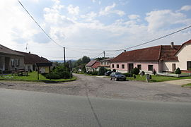 Center of Radkovice u Budče, Třebíč District.JPG