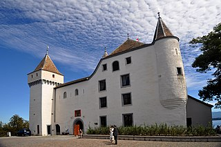 castle in the town of Nyon canton of Vaud