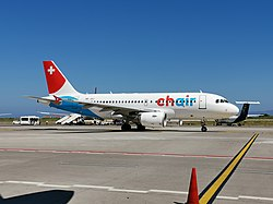 Airbus A319-112 (HB-JOJ) der Chair Airlines
