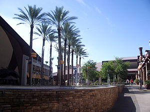 Chandler Fashion Center - Chandler Village outdoor plaza.