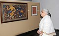 """Chandresh Kumari Katoch going round after inaugurating an exhibition """"Jamini Roy Journey to the Roots"""", celebrating the 125th Birth Anniversary of eminent artist Jamini Roy, in New Delhi on June 24, 2013.jpg"""