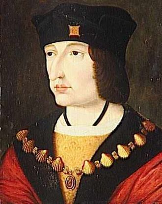 Collar (order) - Charles VIII of France, wearing the collar of the Order of Saint Michael.