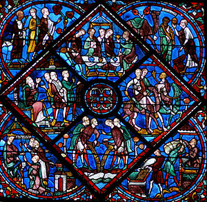 Stained glass - Image: Chartres Vitrail de la Vie de Joseph