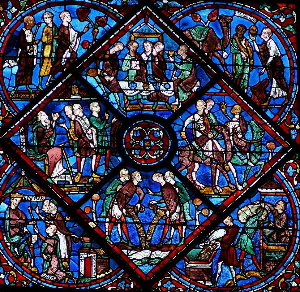 Chartres - Vitrail de la Vie de Joseph