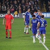 8943b603b Ibrahimović (left) during the UEFA Champions League quarter-final against  Chelsea at Stamford Bridge in London