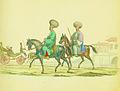 Chevalier Auguste de Henikstein - Boieri fanarioţi călare şi o trăsură cu o familie de boieri de primul rang.jpg