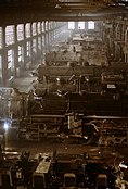 Chicago and Northwestern railroad locomotive shop