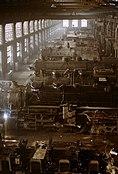 Chicago and Northwestern railroad locomotive shop