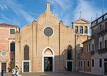 Photo of the the church where Vivaldi was baptized: San Giovanni Battista in Bragora,Sestiere di Castello, Venice.