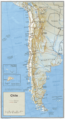 Transport In Chile Wikipedia - Argentina rail network map