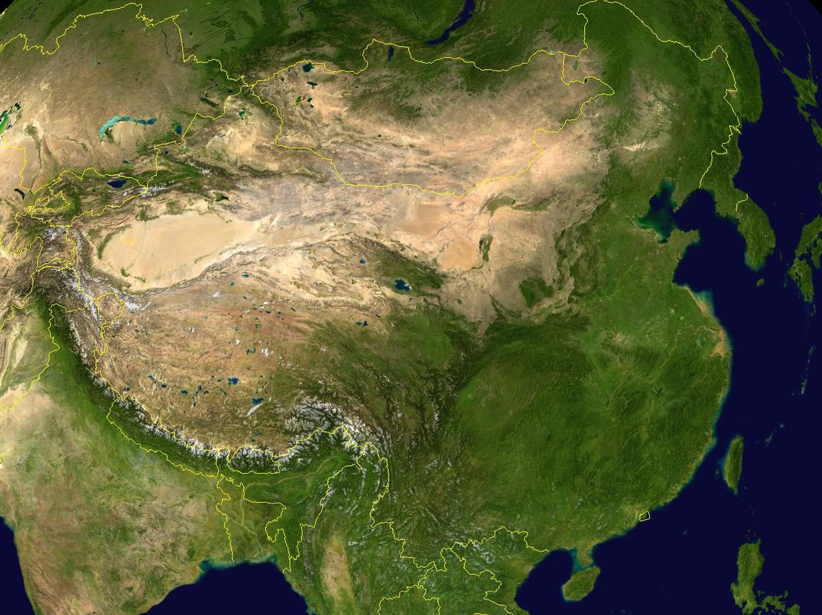 Geography Of China Wikipedia - Earth map us china