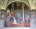 Chiostro grande di smn, lato ovest 11 santi di tito, apparizione dei ss. pietro e paolo a s.domenico, 1581-84.JPG