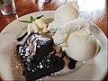 Chocolate brownies with vanilla ice cream (43710445200).jpg
